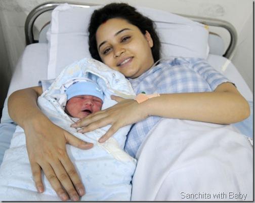 sanchita-with-her-new-born-