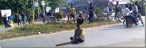 one_man_protest_chitwan_bandha