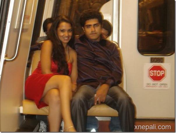 priyanka and rochak in a train