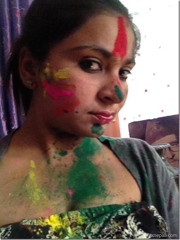 kisha chaulagai holi photo