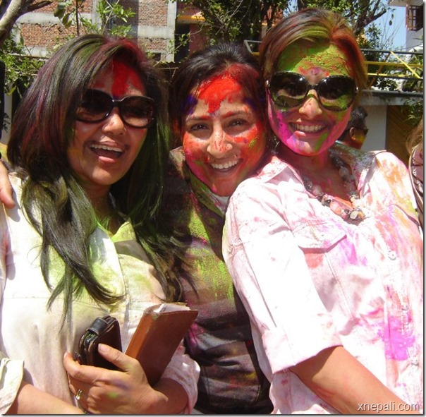 namrata and others holi 2013