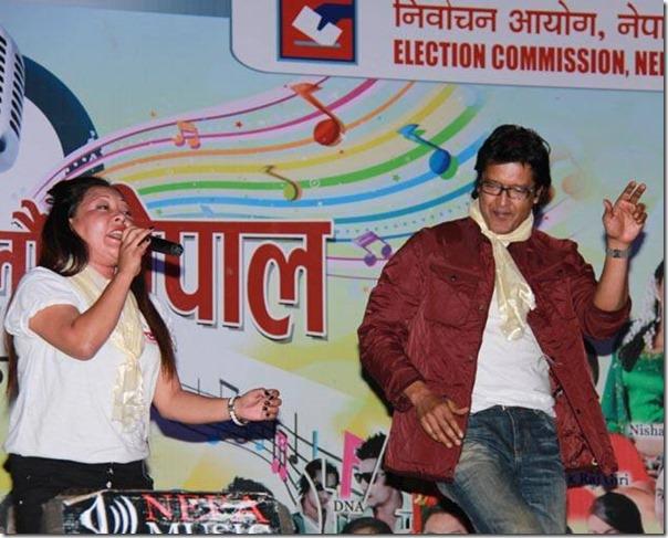 rajesh hamal vote nepal progrma