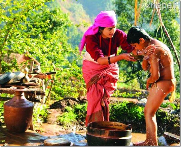 jhola bath scene
