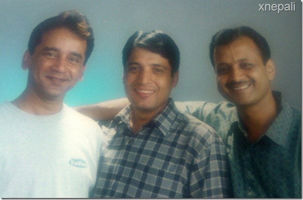 2056 BS photo chhabi ojha and naresh poudel and shyam during namaste nepal time 2
