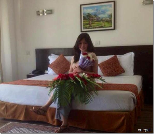 Rajesh Hamal fan from UK sent flowers to the newly married couple (4)