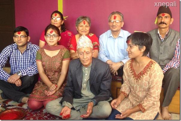 ex pm Baburam bhattarai and his family
