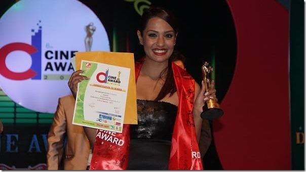 priyanka karki with d cine award