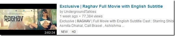 raghav in youtube