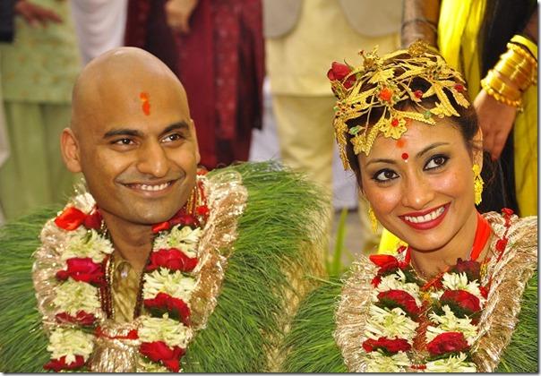 Jharana-Bajracharya-marriage - rahul and jharana smile