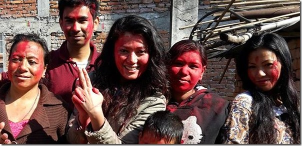 harshika shrestha holi gang