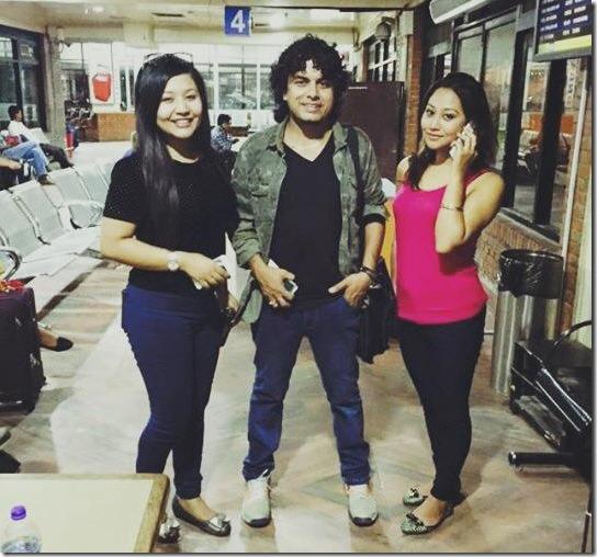 Astha Raut with Pramod Kharel and Ashishma Nakarmi