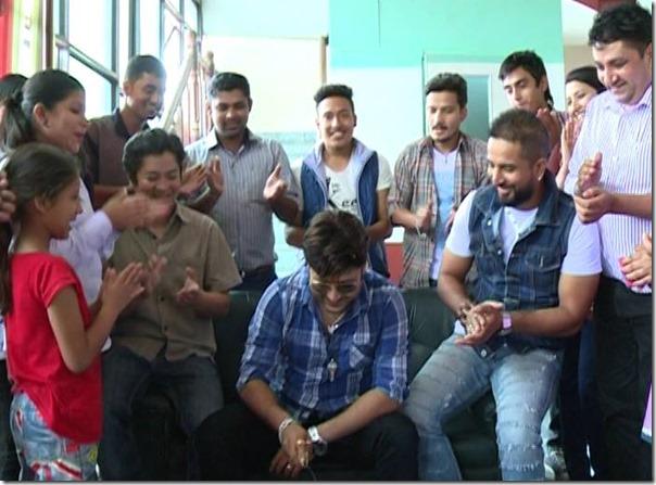 aryan sigdel birthday party at tv filmy