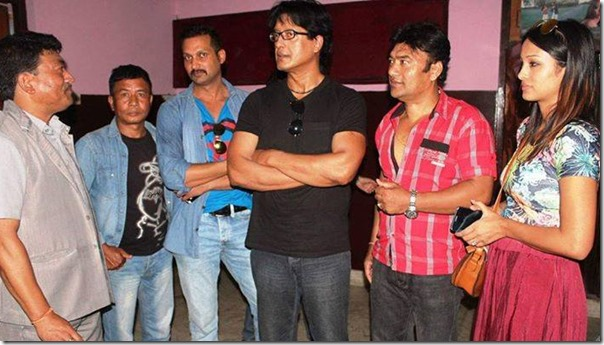rajesh hamal with bhairav team