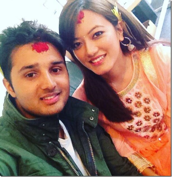 prakriti shrestha in australia with husband australia