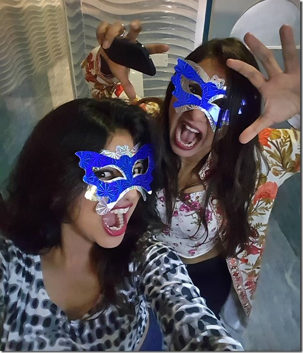 keki adhikari and benisha hamal halloween 2015