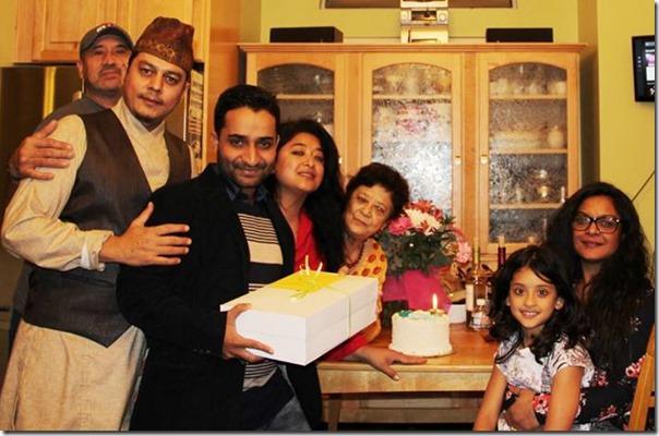 suresh darpan pokharel birthday party at jal shah home