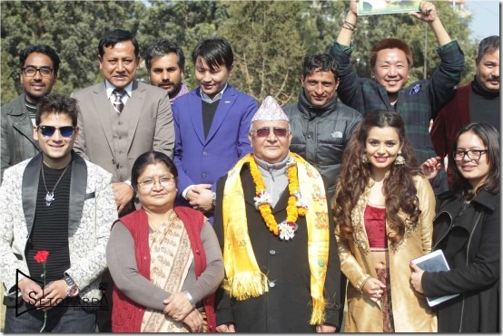 pm with film team