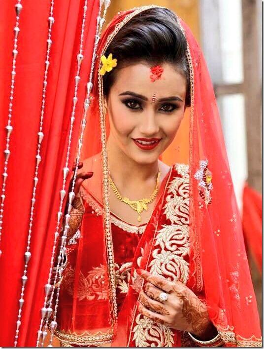 swastima khadka in her wedding dress