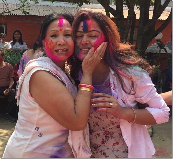 rekha thapa and basundhara bhusal holi 2016