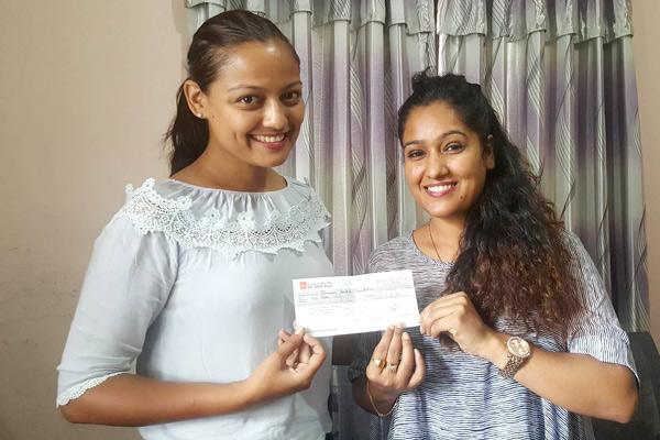 reecha-sharma donationn on birthday to suntali