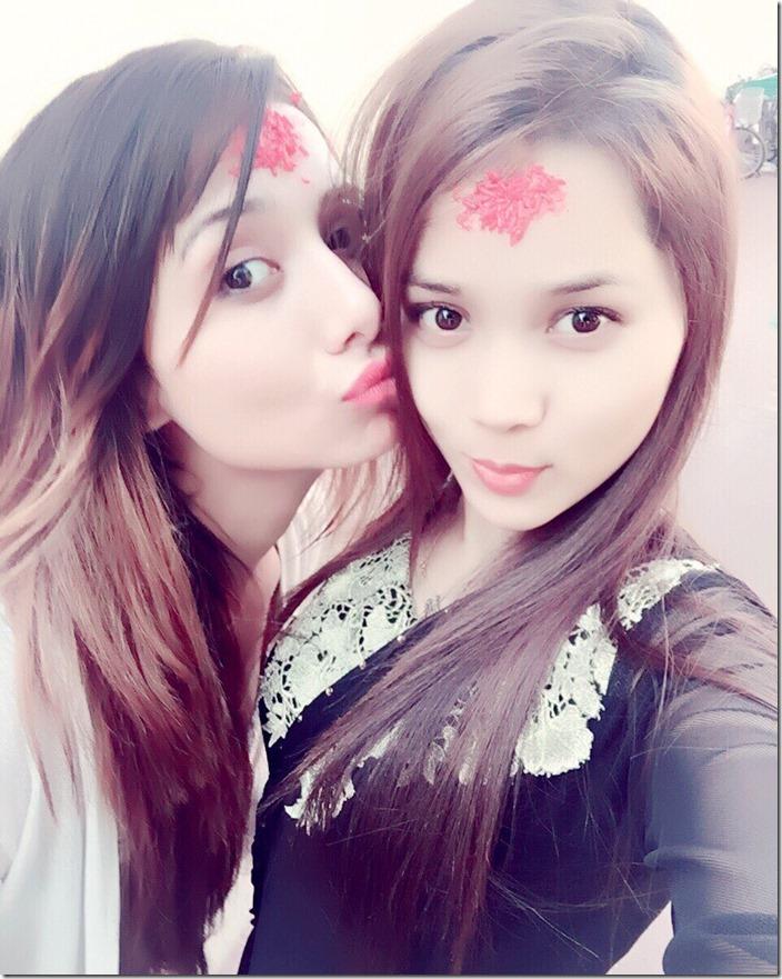 soni kc and her friend Dashain 2016