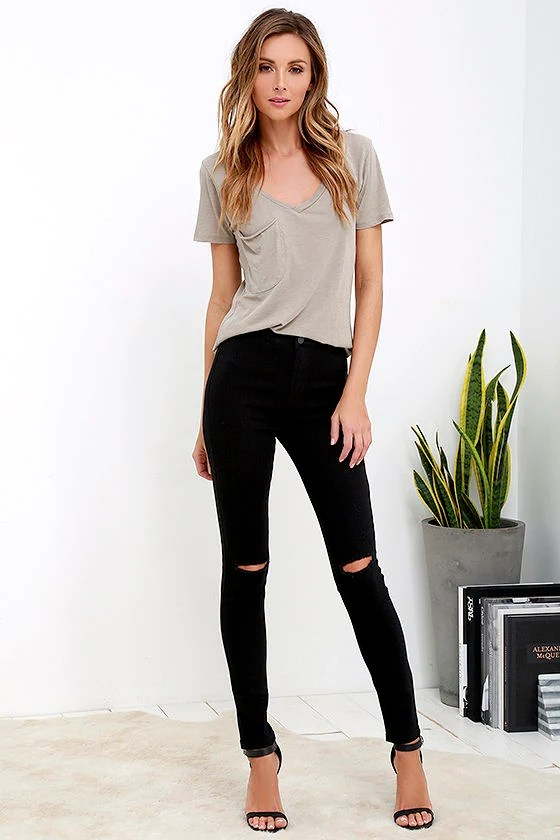 Practice Makes Perfect Black High-Waisted Skinny Jeans - Lulus