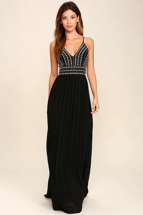 Lovely Black Maxi Dress