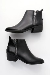 Norwich Black Ankle Booties - Lulus