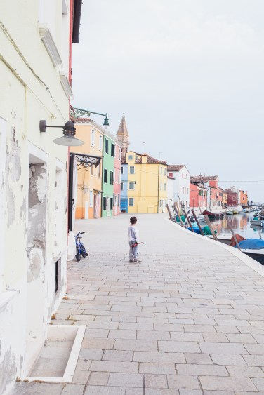 Venice Burano main canal kid (1 of 1)