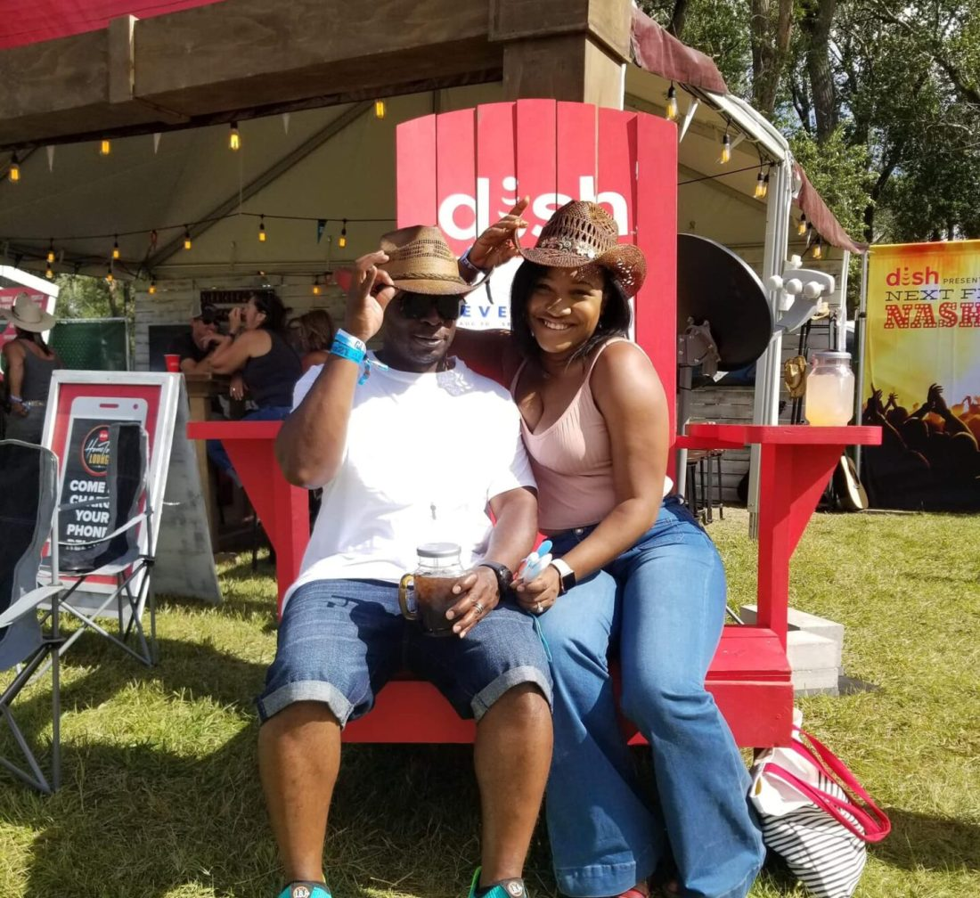 @xochantelmarie and her husband at Seven Peaks Music Festival in Buena Vista, CO