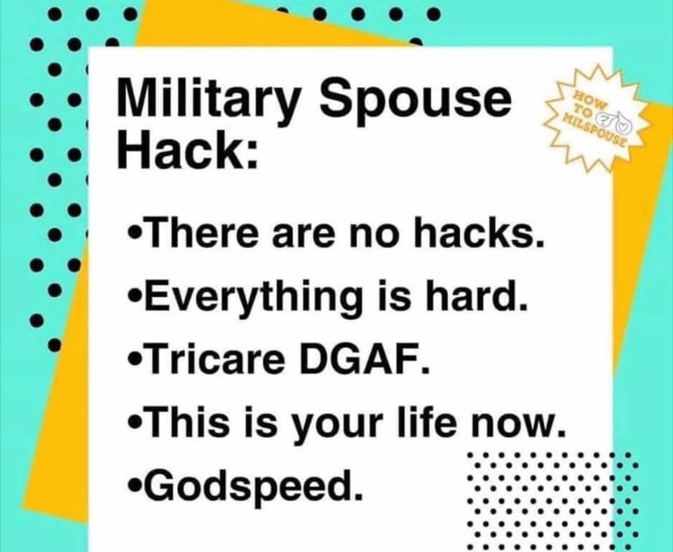 Military Spouse Hack (via How to Milspouse)