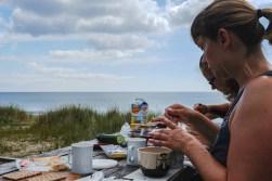 Friseboda Naturreservat - hier gab es einen hochoffiziellen Campingparkplatz am Meer. Wir nutzten ihn gleich zweimal.