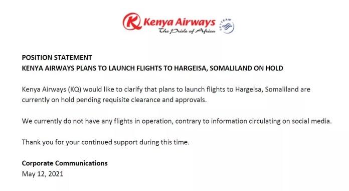 kenya airways plans to luanch