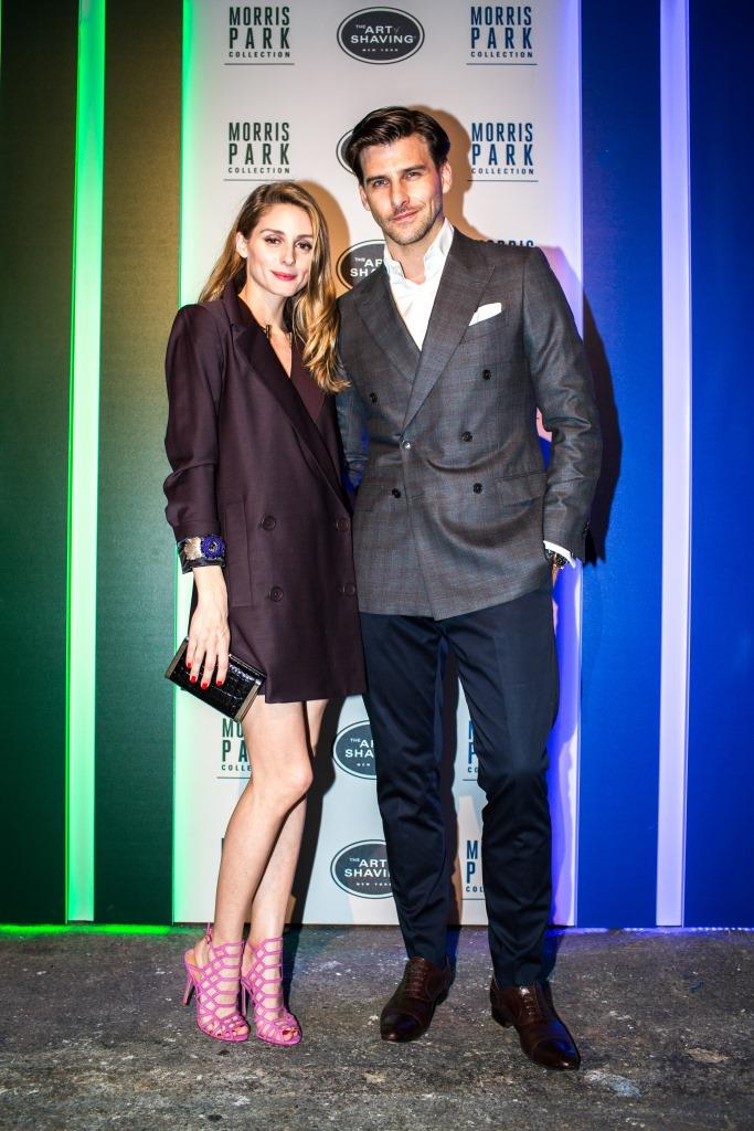 """Johannes Huebl and Olivia Palermo explained, """"The Morris Park Collection combines the look of a classic car with a modern design in three bright, eye-catching colors. We love the racecar-themed names, which are a fashion-forward twist to incorporate into a daily grooming routine."""""""