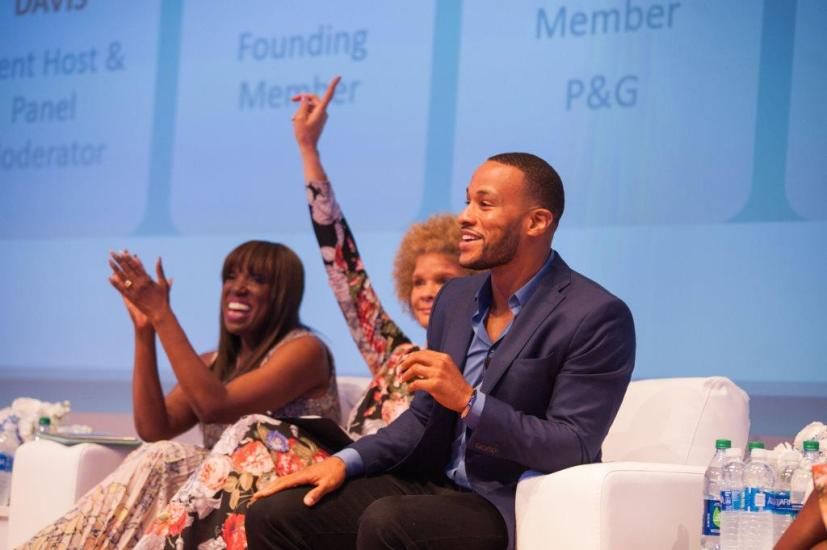 DeVon Franklin discuss his wife, actress Meagan Good ever changing hair styles - select