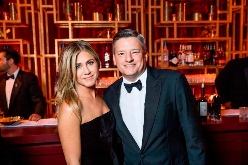 Golden Globes 2018 - Jennifer Aniston, Ted Sarandos