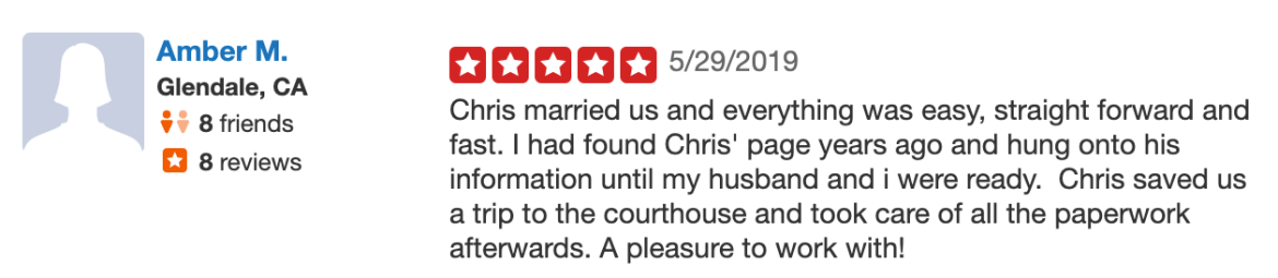 Officiant Guy Wedding Officiant Reviews Los Angeles