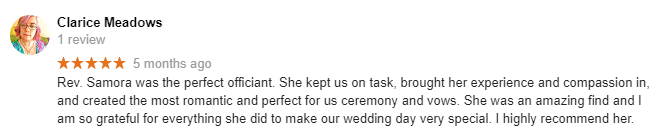 Common Ground Ceremonies Wedding Officiant Reviews New York City