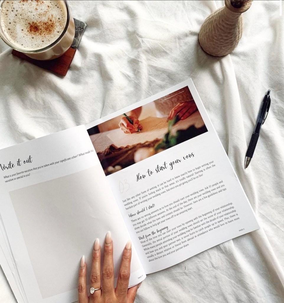 xo juliet wedding vow workbook