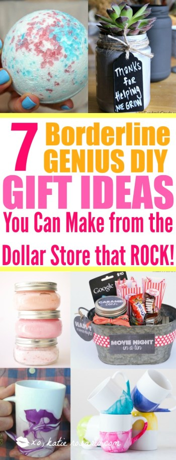 DIY Dollar Store Gift Ideas that you would love to receive easy to make and even better on budget