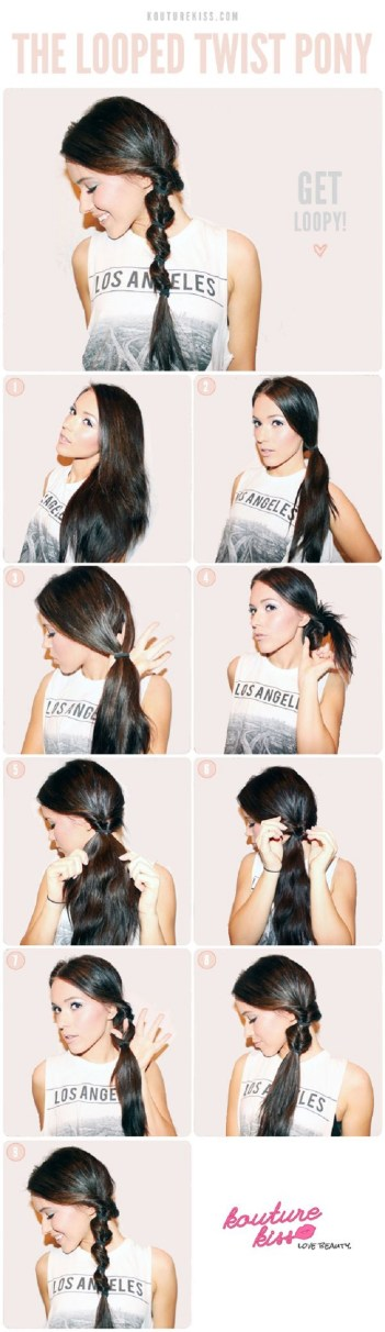 the looped twisted ponytail 5 minute hairstyles busy mornings office hair mom life