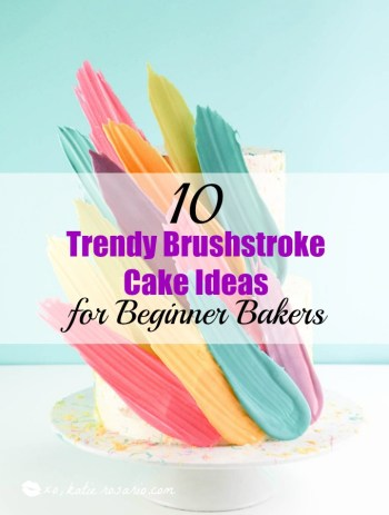 I love decorating cakes and this new brushstroke trend is so cool! These cake ideas are genius and so easy to make for beginner bakers! It so simple to decorate these cakes! Very cool technique! Saving for later!