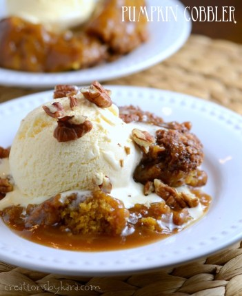Pumpkin Cobbler. How to make a pumpkin desserts this fall