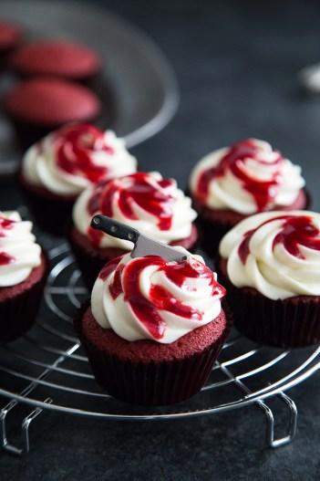Bloody Red Velvet Cupcakes for Halloween Perfect for Newbie Beginner Bakers
