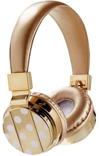 PBTeen Bluetooth Headphones Gold and White Polka Dots. I love this guide! OMG! its so perfect for this holiday shopping season! I think most girls would love something from this post! The gift guide for her is perfect since everything is under $50. It certainly is going to make online shopping so much easier! Saving it for later!