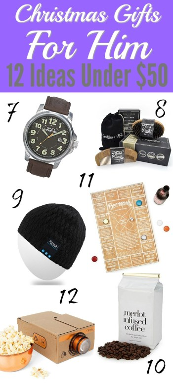 It can be so frustrating to find interesting and cool gifts for guys! Sometimes I think they are harder to shop for than girls! I love that some gifts can be personalized and still be under budget! That's amazing! Pinning for later!
