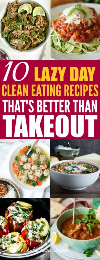 10 Clean Eating Slow Cooker Recipes You Need If you're Feeling Lazy: This is brilliant! Often times I don't make good choices with my food. I'm the first to admit when I am not eating clean. Many times it's because I am lazy but then the slow cooker comes to mind and it's so simple to make clean eating recipes in the crockpot! I love these 10 recipes that are better than takeout and healthy made in the slow cooker! This is a must save!