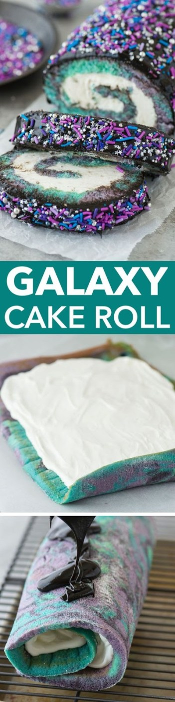 OMG! These galaxy desserts are insane! They are so pretty and vibrant in color. I have been seeing these treats all over Instagram and social media. This is a must for all home bakers. I can't wait to make the galaxy cookies, cakes and many other treats! I have seen this trend take over hair, makeup and now desserts which I can't get enough of!