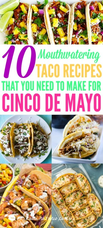 I am so excited to create these Taco Tuesday recipes for this week! They are so easy to make for a busy weeknight meal and tacos are always a good idea! Taco Tuesday is basically a national holiday that makes every night taco night! This also makes awesome recipes for Cinco de Mayo party, tailgating, or a potluck dinner! This is a must try! #tacotuesday #tacorecipes #cincodemayo #mealplanning #mealplan #weeknightmeals #tacos #mexicanfood #easydinnerrecipes #tacoparty