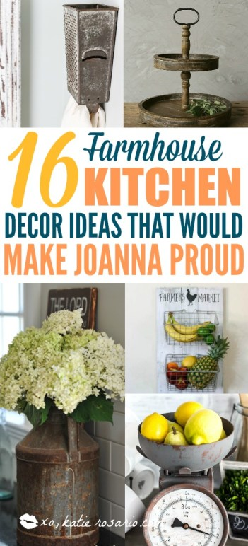 16 DIY Farmhouse Kitchen Ideas That Are Cheap and Easy ...